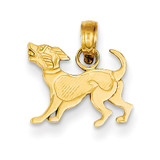 Dog Pendant 14k Gold K3424