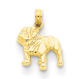 Bulldog Pendant 14k Gold K3426