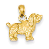 Cocker Spaniel Dog Pendant 14k Gold K3427