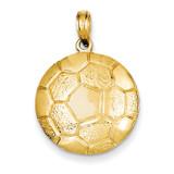 Soccer Ball Pendant 14k Gold K3584