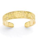 Flower Scroll Toe Ring 14k Gold K3831
