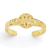 Sand Dollar Toe Ring 14k Gold Diamond-cut K3832