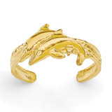 Dolphin Toe Ring 14k Gold K3834