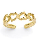 Heart Toe Ring 14k Gold K3837