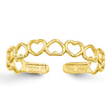 Open Hearts Toe Ring 14k Gold K3838