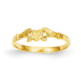 Heart Baby Ring 14k Gold K3844