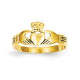Baby Claddagh Ring 14k Gold K3848