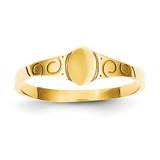 Oval Baby Signet Ring 14k Gold Size 3 K3849