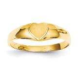 Baby Heart Signet Ring 14k Gold K3850