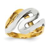 Swirl Ring 14K Gold & Rhodium K3858