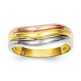 Fancy Ring 14k Tri-Color Gold K3864
