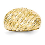 Domed Ring 14k Gold Diamond-cut K3881