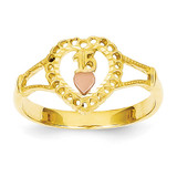 15 Heart Ring 14k Two-Tone Gold K3883