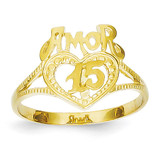 15 Amor Heart Ring 14k Gold K3885