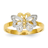 Butterfly Ring 14K Gold & Rhodium K3933