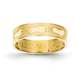 Footprints In The Sand Ring 14k Gold K3953