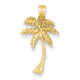 Mini Palm Tree Pendant 14k Gold K4150
