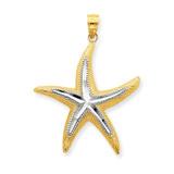 Starfish Pendant 14K Gold & Rhodium K4175