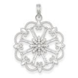 Diamond-cut Starburst Pendant 14k White Gold K4295