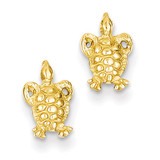 Mini Turtle Post Earrings 14k Gold K4438