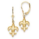 Fleur-De-Lis Leverback Earrings 14k Gold K4524
