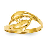Double Dolphins Ring 14k Gold K4552