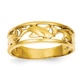 Triple Dolphin Band Ring 14k Gold K4558
