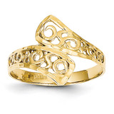 By-pass Lace Diamond-cut Ring 14k Gold K4617