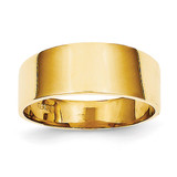 8mm Flat-top Tapered Cigar Band Ring 14k Gold K4629