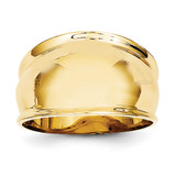 Ridge-edged Dome Ring 14k Gold K4631