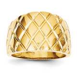 Marquise Pattern Dome Ring 14k Gold K4643