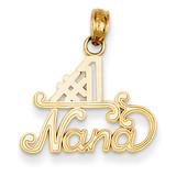 #1 Nana Charm 14k Gold K4724
