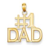 #1 Dad Charm 14k Gold K4734