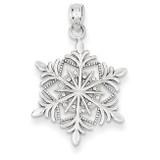 Snowflake Pendant 14k White Gold K4741