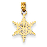 Small Snowflake Pendant 14k Gold K4742