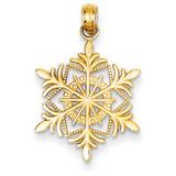 Snowflake Pendant 14k Gold K4744