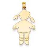 girl Charm 14k Gold K4748