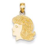 girl Charm 14k Gold K4751