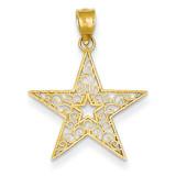 Filigree Star Pendant 14k Gold K4807