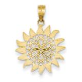 Filigree Sun Pendant 14k Gold Polished K4812
