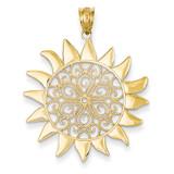 Filigree Sun Pendant 14k Gold K4813