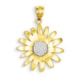Sunflower Pendant 14K Gold & Rhodium K4821