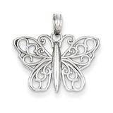 Polished Butterfly Pendant 14k White Gold K4833