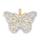 Rhodium Butterfly Pendant 14k Gold K4834