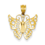 Butterfly Pendant 14k Gold K4837