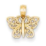 Filigree Butterfly Charm 14k Gold K4839