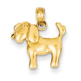 Dog Charm 14k Gold Polished K4856