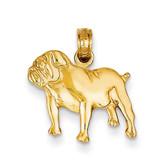 Bulldog Charm 14k Gold K4858