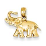 Elephant Charm 14k Gold Polished K4863
