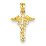 Caduceus Medical Pendant 14k Gold K4937